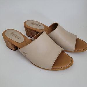 Born Bima Cream Mule Sandal Size 9